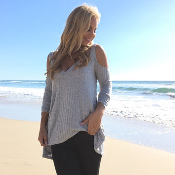 Intense Comfort Cold Shoulder Sweater Top