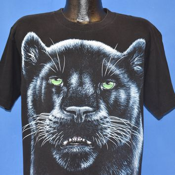 90s Black Panther All Over Print t-shirt Large