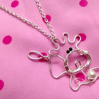 Sterling Silver Cute Cow Taurus Zodiac Pendant Necklace April May