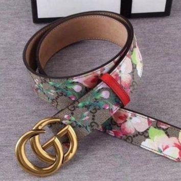 DCCK2 GUCCI BELT AND BOX MEN WOMEN THE BELT A886