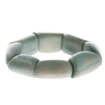 Riverbed Tagua Nut Bracelet in Quarry - Faire Collection