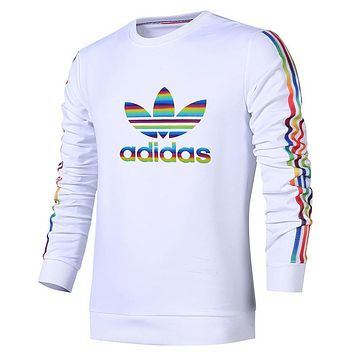Adidas Women Men Fashion Casual Pattern Print Top Sweater Pullover Sweatshirt