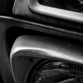 Classy Fine Art ford truck photography black and white Head lights large photo poster wall art home decor