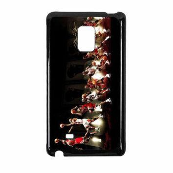 CREYUG7 Michael Jordan NBA Chicago Bulls Dunk Samsung Galaxy Note Edge Case