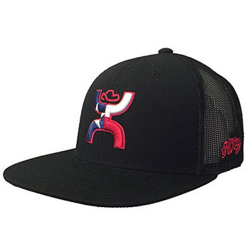 Hooey Hat - 'Texican' Trucker Hat - Black/Red/White/Blue