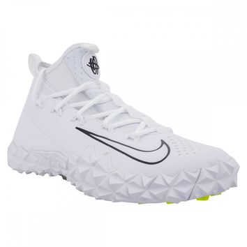 Nike Alpha Huarache 6 LX Turf Mens Lacrosse Cleats WhiteBlack Turf Shoes Mens amp Boys Footwear Footwear