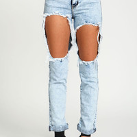 CUT OUT BOYFRIEND JEANS