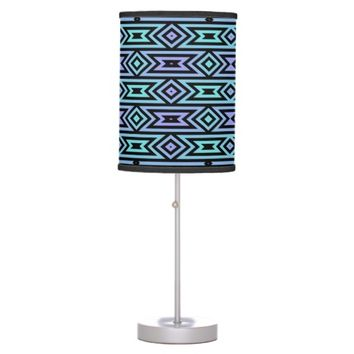 Lilac/Teal Aztec Pattern Table Lamp @ Zazzle.com