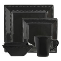 Nova Beaded Square Dinnerware Set (16 PC)