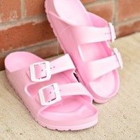 Beach Days Slides - Light Pink