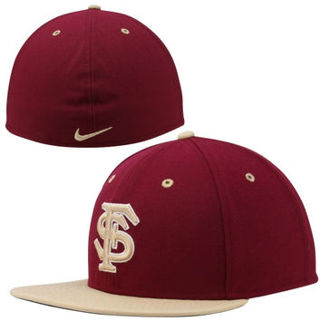 Nike Florida State Seminoles :FSU: True Colors Authentic Performance Fitted Hat - Garnet/Gold