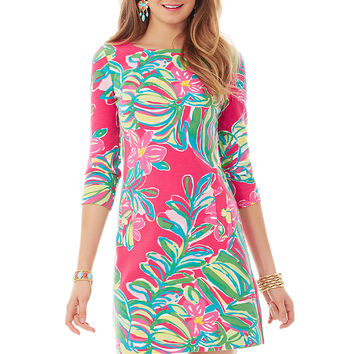 CHARLENE DRESS - POMEGRANATE JUNGLE TUMBLE from Lilly Pulitzer and Ocean Palm