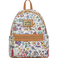 Pokemon Toss Print Character Mini Backpack