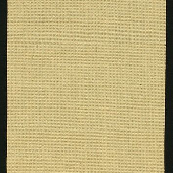 NuLOOM Machine Woven Laurel Jute Rug Black