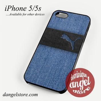 blue jeans puma phone case for iphone 4 4s 5 5c 5s 6 6 plus  number 1