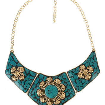 Crackled Collar Necklace