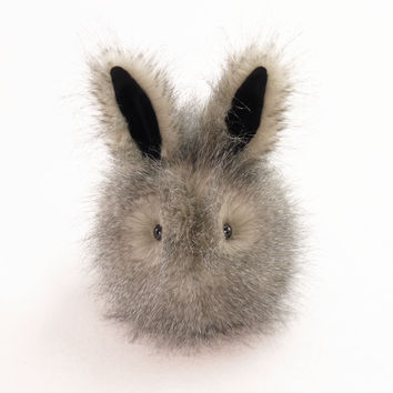 Jasper the Speckled Grey Bunny Stuffed Animal Plush Toy