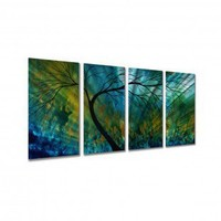 """All My Walls Spring Movement Ii by Megan Duncanson, Abstract Wall Art - 23.5"""" x 48"""" - MAD00020"""