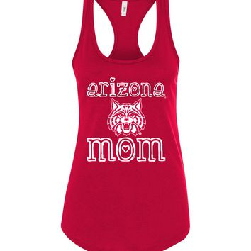 Official NCAA Venley University of Arizona Wildcats U of A Wilber Wildcat BEAR DOWN! Mom Racerback Tank - uofa2422