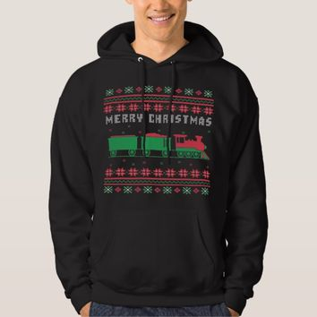 Train Railroad Ugly Christmas Sweater