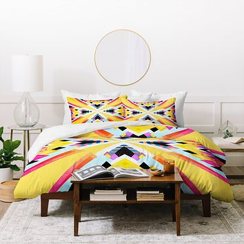 Elisabeth Fredriksson Bubblegum Mountains Duvet Cover
