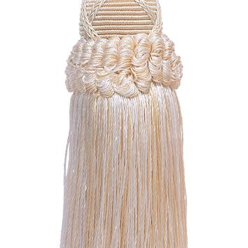 Decorative 5.5 Inch Key Tassel, Ivory, Sand Imperial II Collection Style# KTIC Color: SEASHELL - 5055