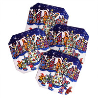 Renie Britenbucher Oh Christmas Tree Coaster Set