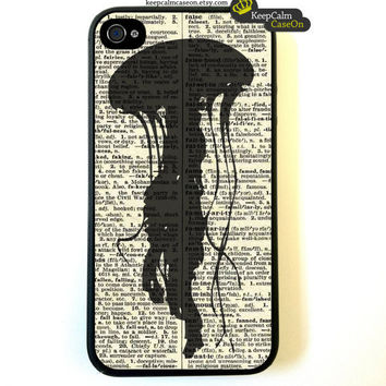 Iphone 4 Case Nautical Jellyfish On Dictionary by KeepCalmCaseOn