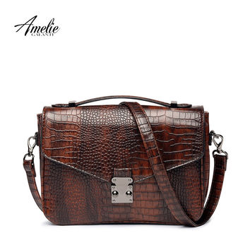 AMELIEGALANTI Brand vintage women shoulder bag high quality PU crossbody bag serpentine messenger bags envelope  handbag