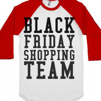 Black Friday Shopping Team-Unisex White/Red T-Shirt