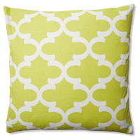 Trellis 20x20 Outdoor Pillow, Green, Decorative Pillows