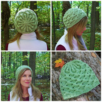Shamrock Slouchy Hat Knitting Pattern