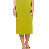 Preston & York Taylor Stretch Crepe Pencil Skirt - Spring Moss