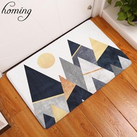 Homing Welcome Home Hallway Door Mats Black White Mountain Pattern Rugs Water Absorption Modern Kitchen Floor Mats Home Decor