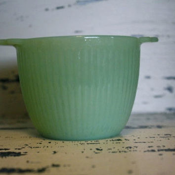 Fire King Jadite Jadeite Sugar Bowl by VintageShoppingSpree
