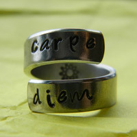 carpe diem sun twist aluminum ring