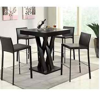 Modern Dining Room Table Cappuccino Square Bar Bistro Counter Top Style Home