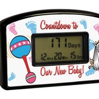Big Mouth Toys Countdown Timer - New Baby (Blister)