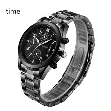 #5001 Leisure High Quality Woman Watch Fashion Men Crystal Stainless Steel Analog Quartz Wrist Watch Bracelet