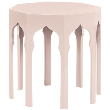 Moroccan Side Table | Ballet Pink