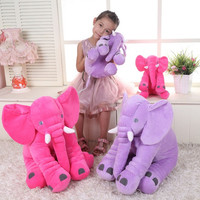 40cm New Fashion Animals toys Stuffed Soft Elephant Pillow Baby Sleep Toys Room Bed Decoration Plush Toys