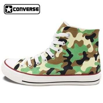 Army Camouflage Painted Converse