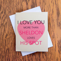 For the Love of Sheldon Cooper's OCD Card - The Big Bang Theory - Any Occasion