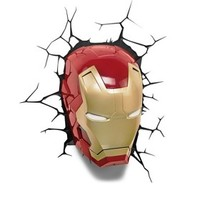 The Avengers 3D Wall Art Nightlight - Iron Man Face