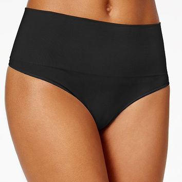 SPANX Women's Everyday Shaping Panties Thong SS0815 Women - Shapewear - Macy's