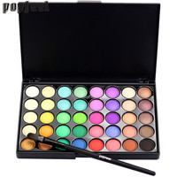 Best Deal New Fashion Multi-color Cosmetic Matte Eyeshadow Cream Makeup Eye Shadow Palette Shimmer Set 40 Color+ Brush Set