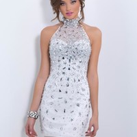 2014 Blush Fitted Homecoming Dress C166