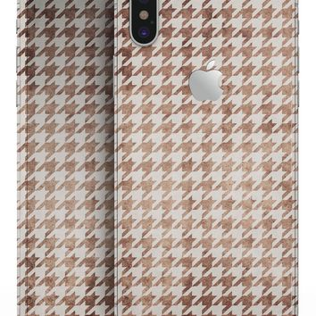 Grungy Tangerine Houndstooth Pattern - iPhone X Skin-Kit