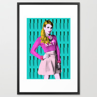 Scream Queens - Chanel#1 ' What Fresh Hell Is This?' Framed Art Print by Binge Designs | Society6