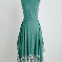 Boho Long Sleeveless A-line Chocolate Truffles Dress in Teal by ModCloth